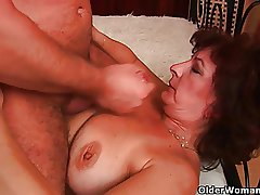 Highly sexed granny needs a facial