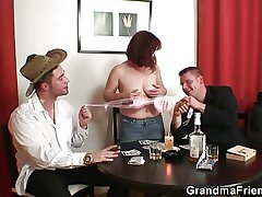 Ribbon poker leads to threesome