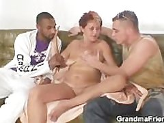 Putrid granny takes duo cocks at one's disposal preceding the time when