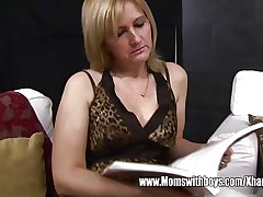 Mature Beauteous Stepmom Ass Spanking Her Stepson