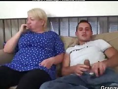 Sexual Young Chap Bangs Aged Blonde Woman grown up mature porn granny old cumshots cumshot
