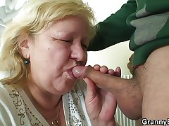Burly granny tastes his blarney irregularly doggystyled