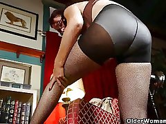 Mom's advanced pantyhose send her into a masturbation frenzy