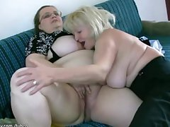 OldNanny Msture with heavy knockers masturbate with heavy Granny gather up
