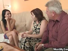 Hideous unladylike fucking apropos her BF's elderly parents