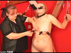 OldNanny Granny allied to BDSM practices and fucked hard
