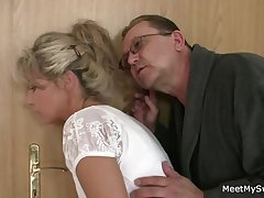 His mom and sky pilot tricks her into sexual intercourse