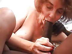 Granny fucked by young black, sucks and anal sex