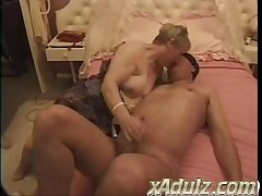 Chubby Granny Gets Turned on Watching Repair Males Work and Ends thither Pulling Both..