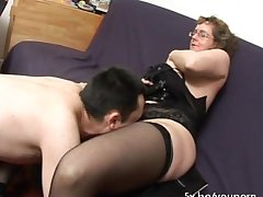 French adult Francoise fucked prevalent threesome