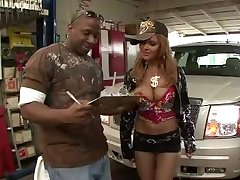 Janet Mason- interracial motor rims-bling bling
