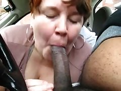 Chubby Mature Second-rate Treating Black Dick In Railway carriage