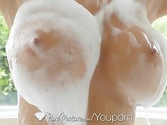 PureMature - Hot Milf Alexis Fawx making a splash in burnish apply dust