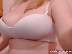 Melanyyx Big Tit webcam model playing with shaved pussy