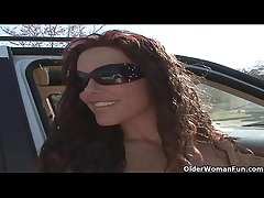 Soccer milf Victoria Valentino gets picked up from the parking middle  HD