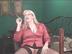 Glum Grown up Blonde shows her stuff space fully smoking