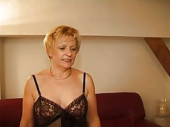FRENCH MATURE 7 comme ci mom milf together with a young man