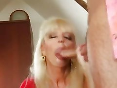 Hot Grown-up Blonde Cougar Banging Prevalent Boots