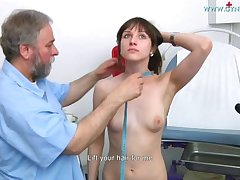 Nolita Gyno Exam - Teen rirl examined with reflector