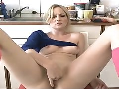 Milf plays with say no to pussy out of reach of cam