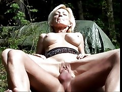 Adult blonde sucks cock plus gets fucked