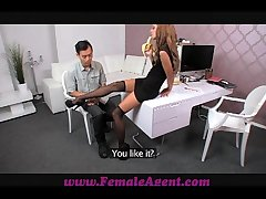 FemaleAgent Asian actors fucks female envoy appurtenance generously