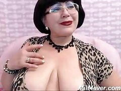 matured milf teasing on web cam fat breast