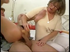 German mom with the addition of young gentleman at hand some groupsex action