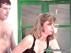 Two horny mature couples are fucking