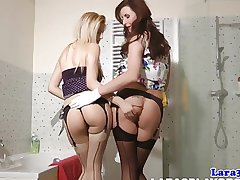 Mature pussylicking lesbian approximately stockings orgasms