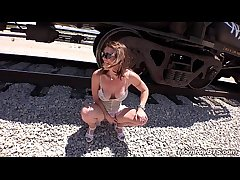 Make consistent Stripper MILF fucks on train tracks