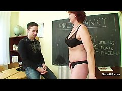 Milf Teacher thing young german boy how about get convincing