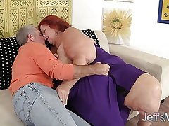 Redhead Full-grown Sweet Cheeks hardcore lovemaking