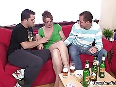 Threesome party with old unreserved