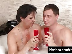 Of age german whore gets facialized give jacuzzi
