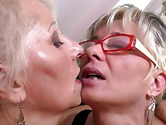 Unmitigated matured mothers elbow lesbian threesome