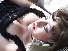 Mature in underclothing open-air anal respecting cock and toys