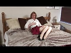 Mature, strips & uses plaything