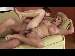 Blonde GILF mature loves young load of shit