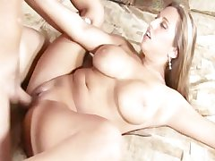Blistering milf going to bed and receives cim on her Bristols