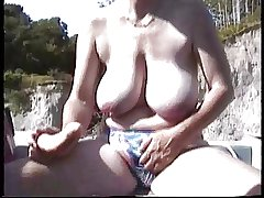 Hairy British Mature  Swear at in the rowing-boat