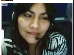 Colombian Full-grown beauty on Webcam at Internet Cafe