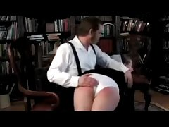 Amish Teacher Spanked Go away from His Knee
