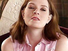 Hot mature brunette undresses together with slides fingers inside her shaved pussy