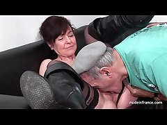 Amateur mature hard DP and facialized around 3way with Papy Voyeur