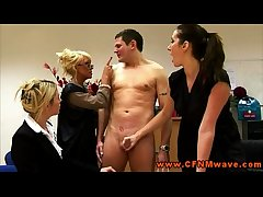 Rough femdom CFNM matures jerk wanting dude