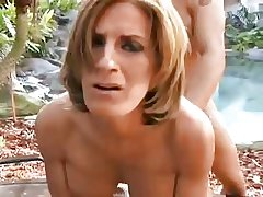 Low-spirited mature outdoor in pussy and irritant