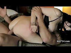 Big-breated horny milf's assembly room seduction
