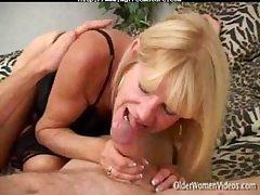 Granny Tanned Blonde In Action. mature mature porn granny aged cumshots cumshot