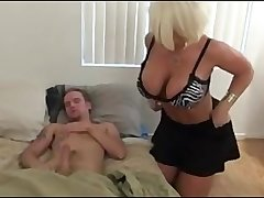 Step mama jerking off NOT say no to son